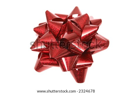 Red Bow (Isolated)