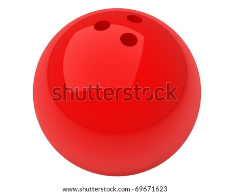 red bowling ball isolated