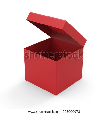 Red box, square shape