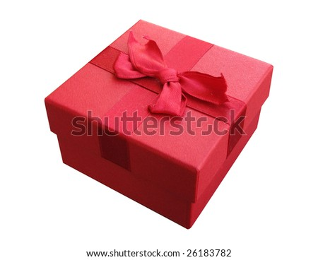 red box with bow