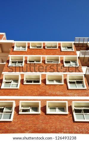 Red-brick building. - stock photo