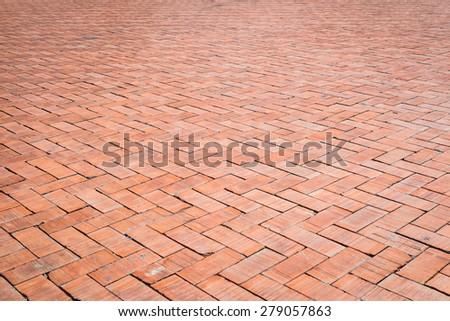 Red Brick Floor Texture Background