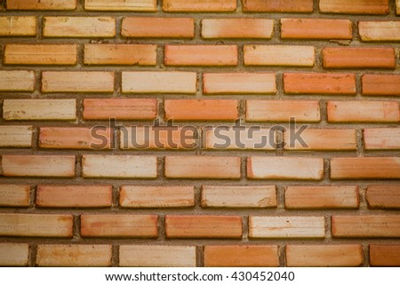Red brick stone wall seamless background and texture - stock photo