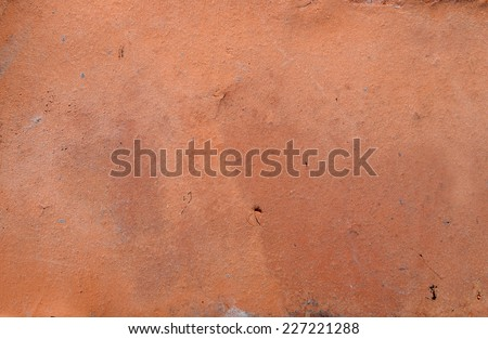Red brick texture macro closeup, old detailed rough grunge texture - stock photo