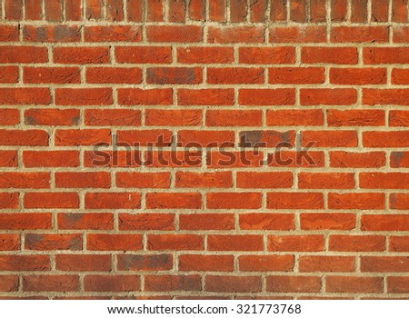 Red brick tiles cladding - stock photo
