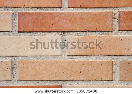 Red brick wall as exterior trim option. - stock photo