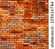 Red brick wall background and texture - stock photo