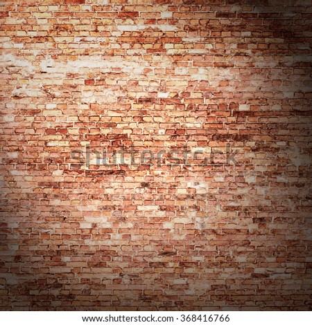 red brick wall background in old basement with beam of light & Red Brick Wall Background Old Basement Stock Illustration 368416766 ...