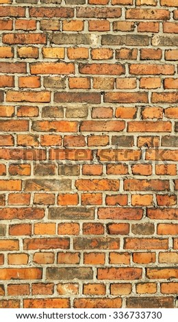 Red brick wall background or texture