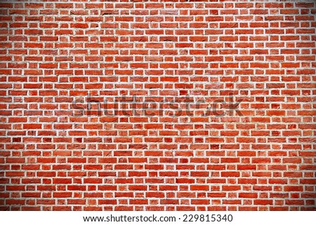 Red Brick Wall Building Exterior Background - stock photo