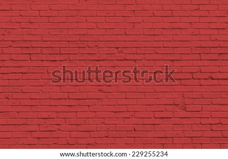 Red Brick wall for background or texture - stock photo