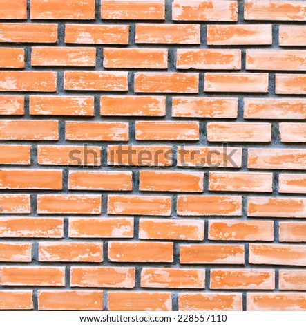 Red brick wall texture background .