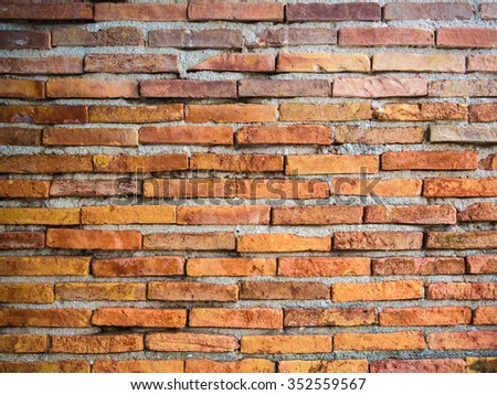 Red brick wall texture background, brick wall texture in old house