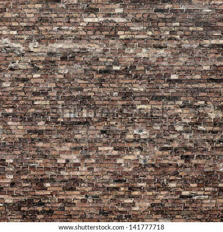 red brick wall texture background to interior design