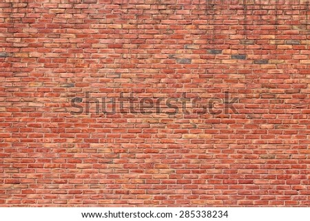 Red brick wall texture. Building architecture background. - stock photo