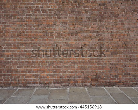 Red brick wall useful as a background - stock photo