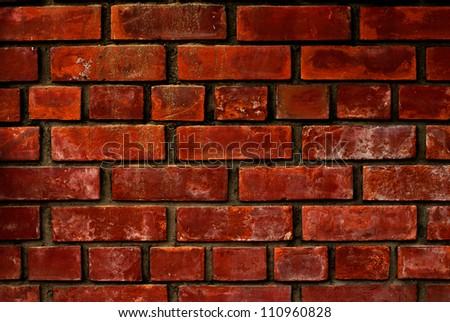 red bricks wall background - stock photo