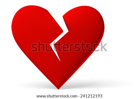 Red Broken Heart Symbol Isolated On Stock Illustration 241212193