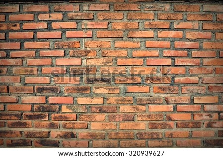 red, brown brickwall cement background, vintage  red  brown brickwall cement background