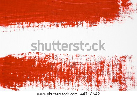 Red Brush Stroke