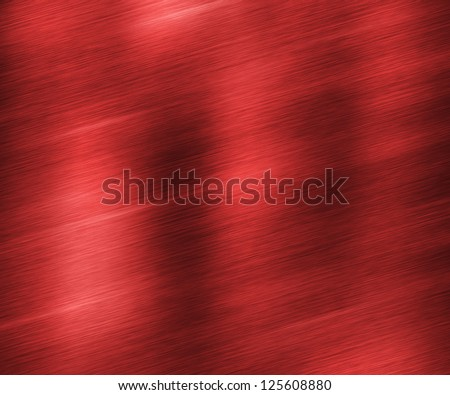 Red Brushed Metal Texture - stock photo