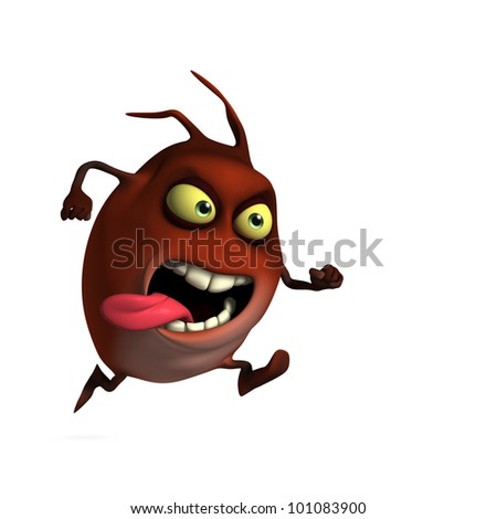 red bug run - stock photo