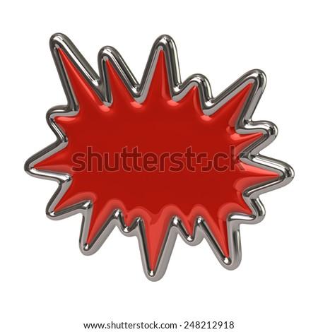 Red bursting star icon - stock photo
