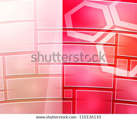 Red Business Background Window - stock photo