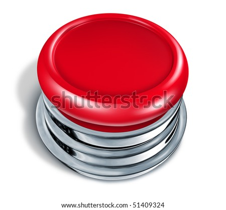 red Button blank isolated on white background