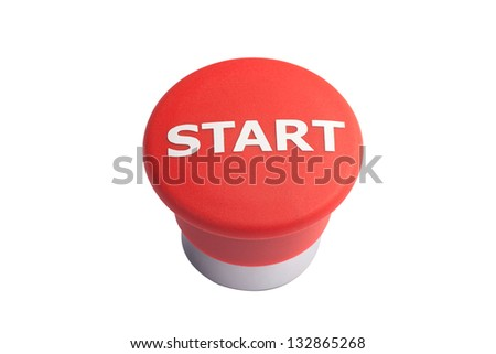 red button isolated - stock photo
