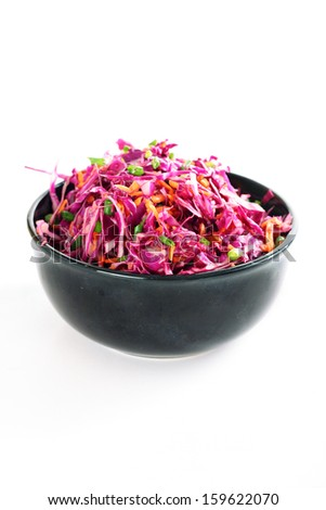 red cabbage slaw - stock photo