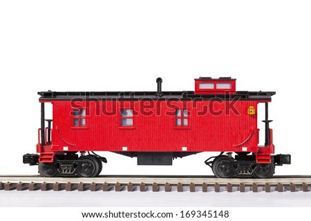 Red Caboose - stock photo