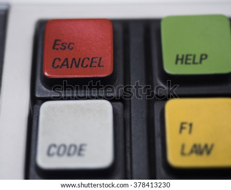 Red Cancel button on keyboard