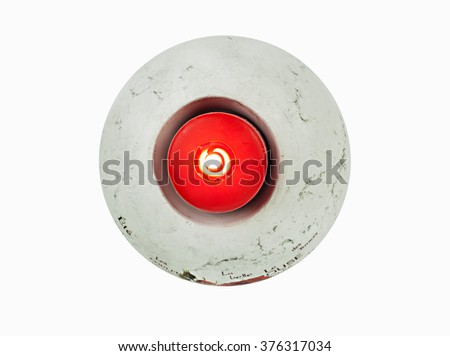 Red candle in a candlestick - stock photo