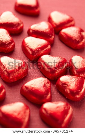 red candy hearts