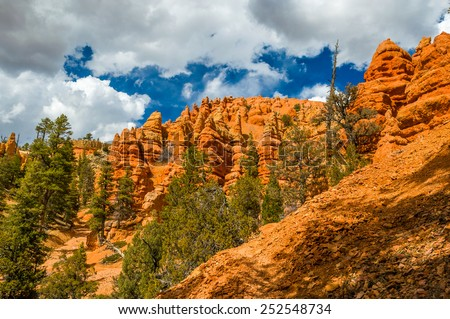 Red Canyon, famous Utah landmark - stock photo