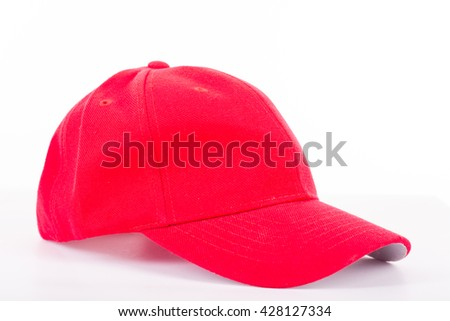 Red Cap hat isolated with white background.