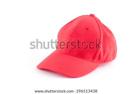 Red Cap isolated white background.