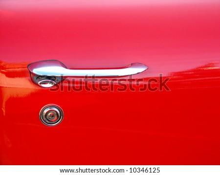 red car door - stock photo