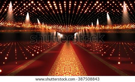 Red Carpet Festival Glamour Scene Illustration