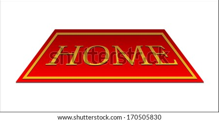 red carpet home - stock photo