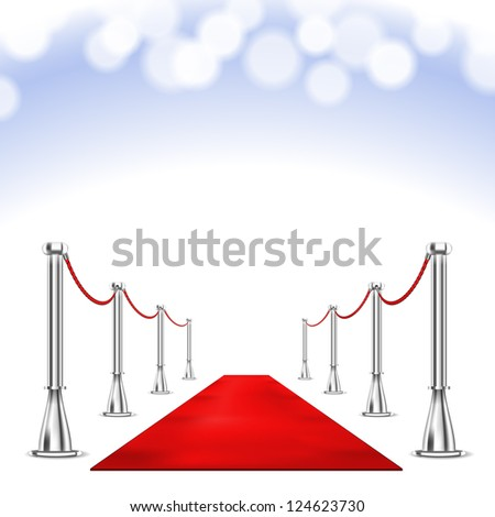 Red Carpet isolated on white background. Raster version - stock photo