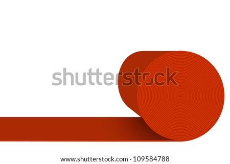 carpet roll logo. red carpet roll logo