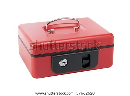 Red cash box