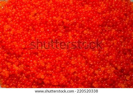 Red Caviar background; Salmon roe texture (ikura, nori, ????) - stock photo