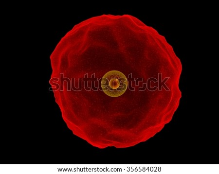 red cell - stock photo