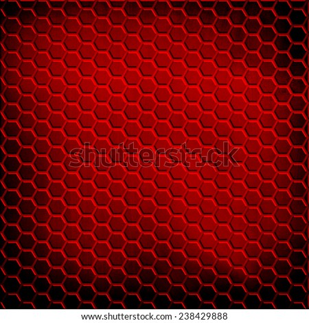red cellular metal background  - stock photo