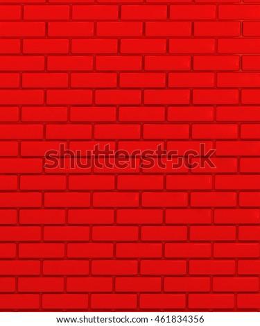 Red Ceramic Tile Brick Wall Texture Stock Illustration 461834356