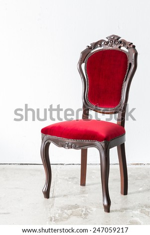 Red Chair Contemporary style in vintage room