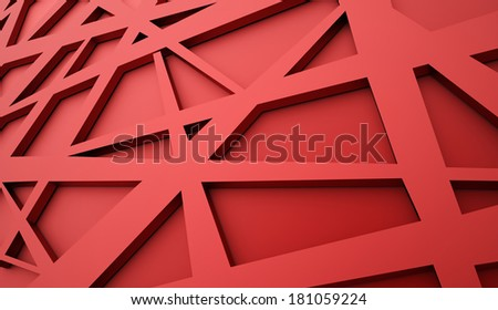 Red chaos mesh background rendered - stock photo
